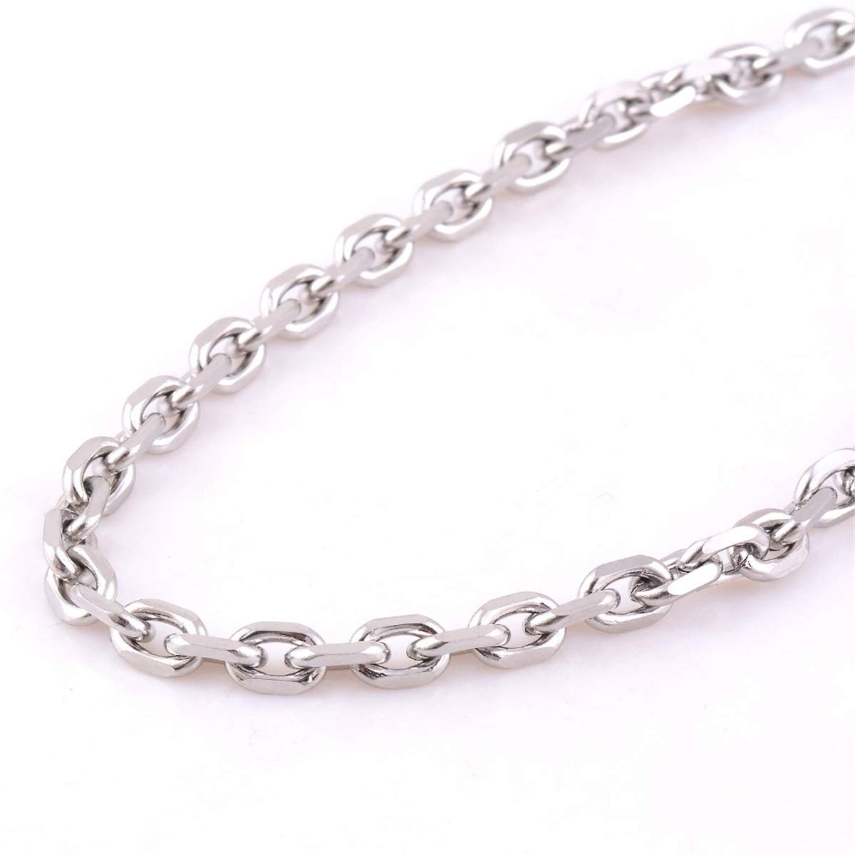 Width 1.6Mm//2Mm//2.4Mm//3Mm//4Mm//5Mm Stainless Steel Rolo Chain Link Necklace Chain 4mm Width 34 inches or 86cm