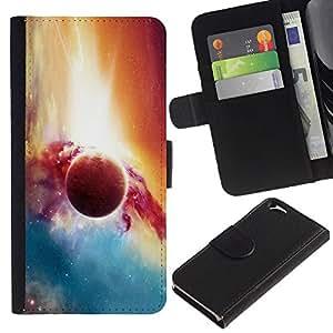 Stuss Case / Funda Carcasa PU de Cuero - Planet Galaxy - Apple Iphone 6