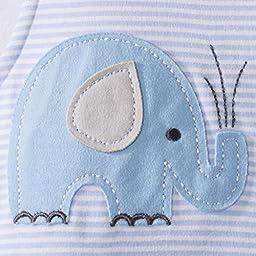 Halo SleepSack Cotton Wearable Blanket, Blue Stripe, Small