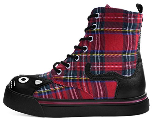 Sneaker Féminin T Plaid Combat k Botte De u Rouge Shoes O4Wzaq4XH