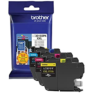 Brother Printer LC30193PK Super High Yield XXL 3 Pack Ink Cartridges- 1 Ea: Cyan/Magenta/Yellow Ink by Brother Printer