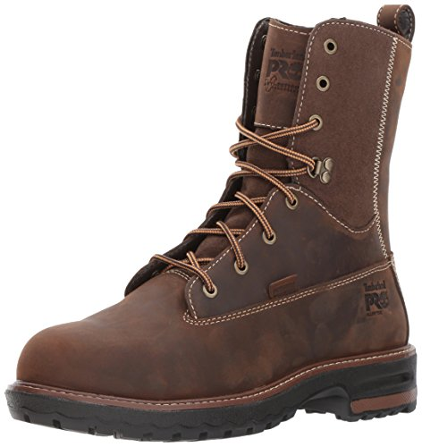 Timberland PRO Women's Hightower 8'' Alloy Toe Waterproof Industrial and Construction Shoe, Kaffe Full-Grain Leather, 6.5 M US by Timberland PRO