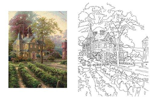 Posh Adult Coloring Book Thomas Kinkade Designs For