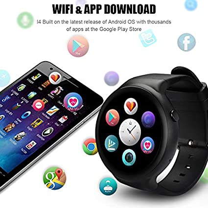 Four Reloj Inteligente-cámara Reloj teléfono 16 GB ROM Incorporado convertidor Bluetooth/GPS/Monitor de Ritmo cardíaco Sport Smartwatches para Android iOS: ...