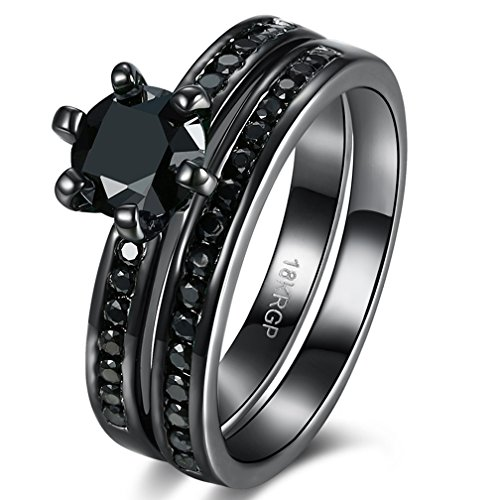 Black Diamond Eternity Rings - 7