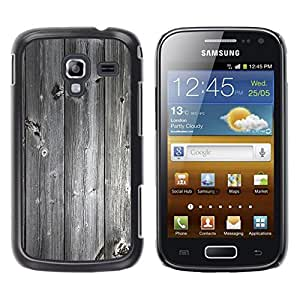 Caucho caso de Shell duro de la cubierta de accesorios de protección BY RAYDREAMMM - Samsung Galaxy Ace 2 I8160 Ace II X S7560M - Wood texture Vintage Retro