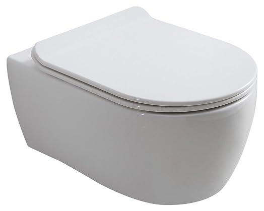 circular toilet seat uk. Hansvit STEIN Rimless Toilet and Seat 545 mm  White Amazon co uk