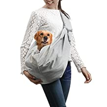 OWNPETS Pet Sling Carrier Small Dog Cat Sling Pet Carrier Bag Safe, Comfortable, Reversible, Machine Washable ,Double-sided Pouch Shoulder Carry Tote Handbag Small Pet Carrier for Pets below 6.6 LB by OWNPETS