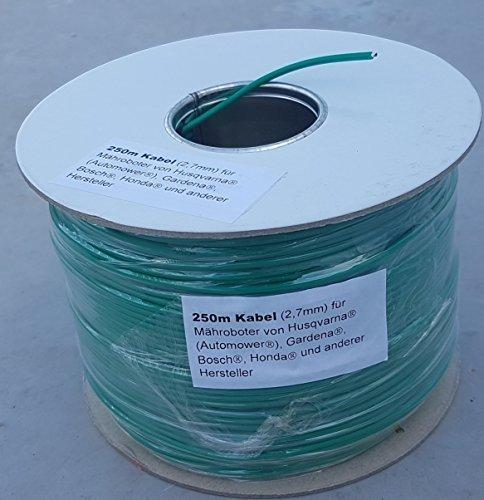 250m Cable (2,7mm) for Husqvarna Automower / Gardena R40LI R70LI Sileno Sileno+ Genisys