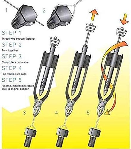 Jaimenalin 6 Pouces de S/éCurit/é Fil Torsion Twister C?T/é Coupe Lockwire Pinces avec 25 Pieds de Fil en Acier Inoxydable