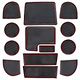 Subaru WRX Custom Doors - MOEBULB Interior Cup Holder Door Pockets Center Console Liner Mat for Subaru WRX 2015 2016 2017 2018 2019 Custom Fit Flexible Rubber Pad Non-Slip Anti-dust (13pcs/Set, Red)