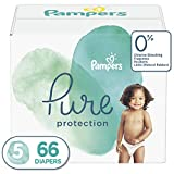 : Diapers Size 5, 66 Count - Pampers Pure Disposable Baby Diapers, Hypoallergenic and Unscented Protection, Giant Pack
