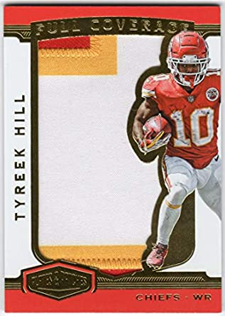 huge selection of 9569f 48101 Amazon.com: Tyreek Hill 2018 Panini Plates & Patches Full ...