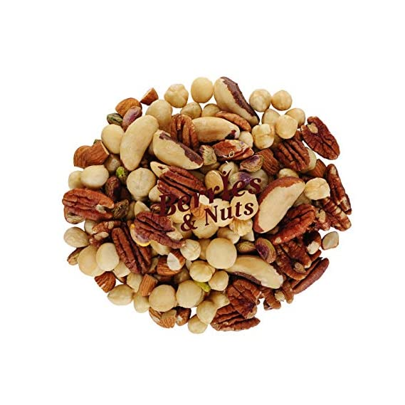 Berries And Nuts Magic Nuts Mix | Pecan, Brazil, Hazel, Macadamia, Almonds, Pista, Walnuts | 250 Grams
