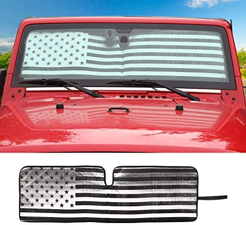 Windshield Sunshade Custom fit 1997 2017 Wrangler