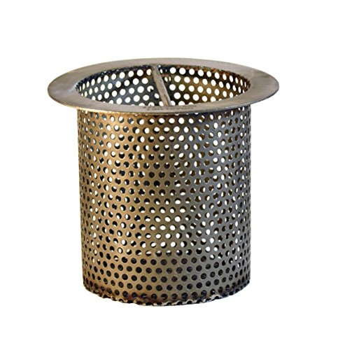 """4"""" Commercial Floor Drain Strainer, 4"""" Tall, Perforated Stainless Steel"""