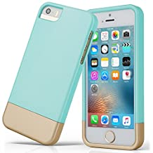 iPhone SE/5S/5 Case, SOUNDMAE Dual Layer Hybrid Microfiber & PC Anti-impact Shockproof Antiskid Splice Nice Touch Case Cover For iPhone SE/5S/5[SkyBlue]