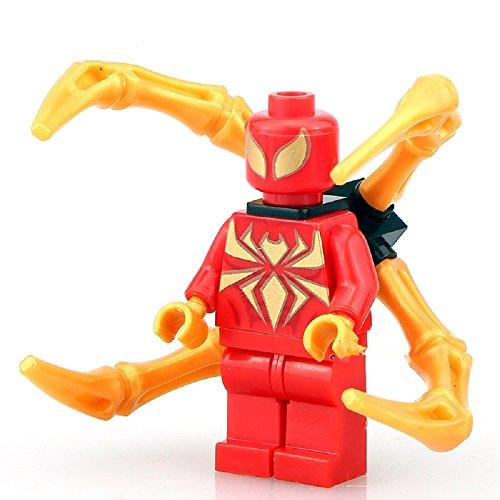 Custom Spider - Britoys Iron Spider Minifigure Custom Building Block Toy