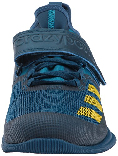 adidas Performance Men's Shoes | Crazy Power Cross-Trainer, Blue Night/Equipment Yellow/Mystery Petrol, (11.5 M US)