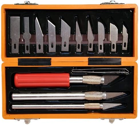 Amazon Com Precision Craft Utility Knife Set Tacklife 22pcs Sharp Scalpel Razor Knives Tool For Art Wood Leather Working Stencil Fine Point Scoring Scrapbooking Chiseling Blades Home Improvement