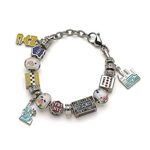 New York City (NYC) Charm Bracelet - Bracelet with ALL (Costume Broadway Nyc)