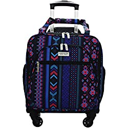 Chocolate New York Spinner Under Seater Luggage, 18 Inches - Maya Purple (753)