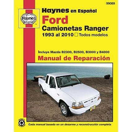 amazon com haynes repair manuals ford ranger pick ups 93 10 rh amazon com 1997 mazda b2300 owner's manual 1997 Mazda B2300 Truck
