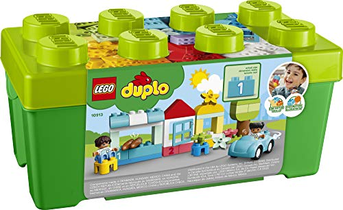 516sMrsip4L - LEGO DUPLO Classic Brick Box 10913 First Set with Storage Box, Great Educational Toy for Toddlers 18 Months and up, New 2020 (65 Pieces)