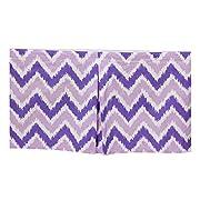 Bacati Mix and Match Zigzag Ikat Crib Skirt, Purple