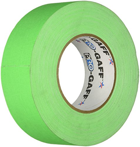 "Pro Tape FLGRN250 Gaffers Tape, 50 yards Length x 2"" Width, Green"