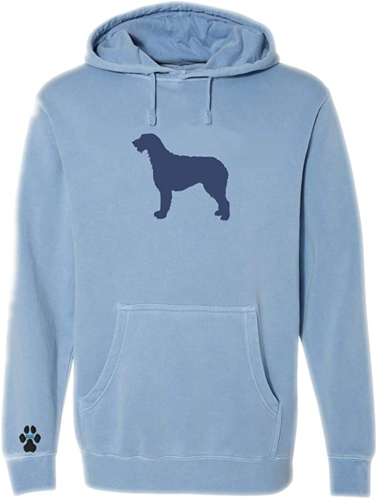 Heavyweight Pigment-Dyed Hooded Sweatshirt with/ Irish Wolfhound Silhouette