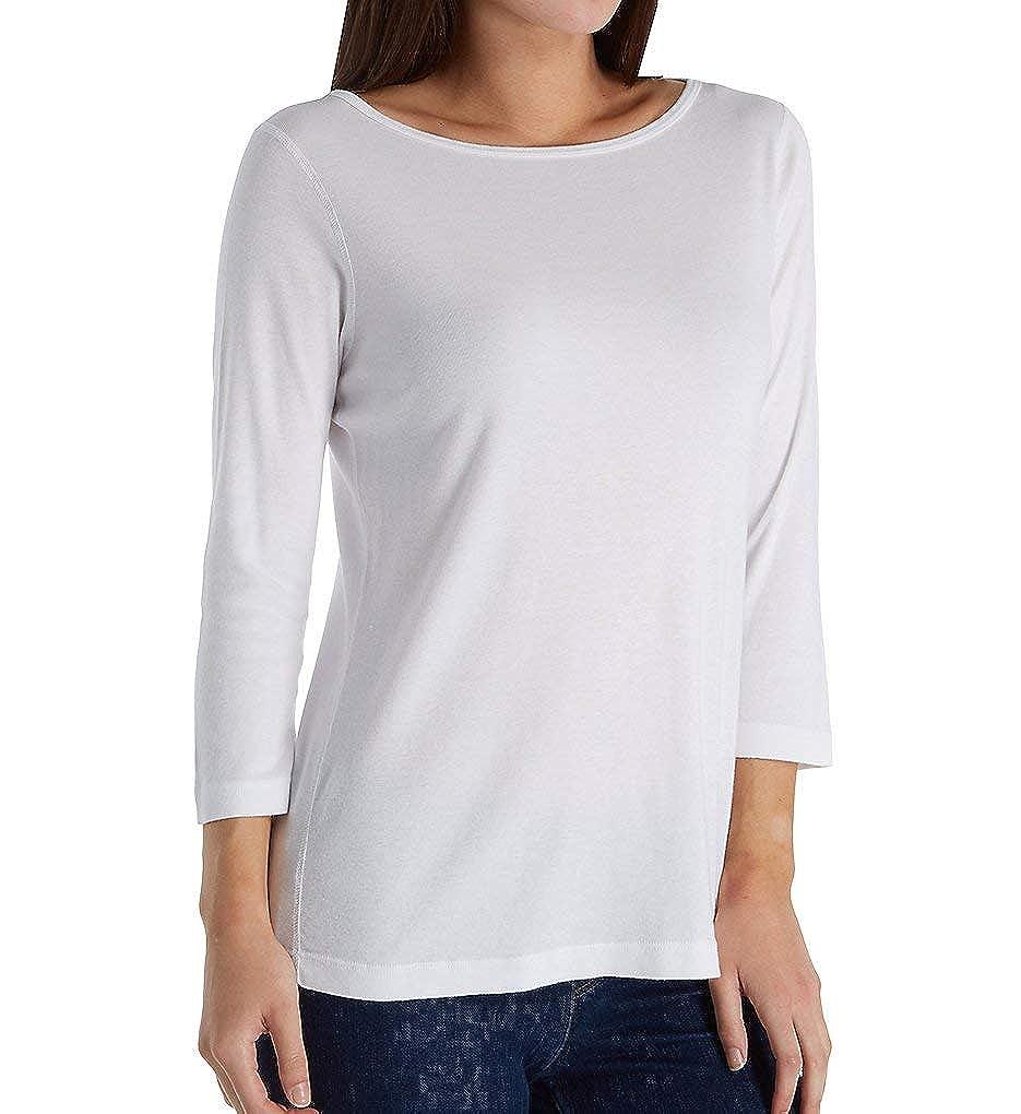 White Three Dots Womens Aj4600 Ez Fit Tee British Tee Shirt