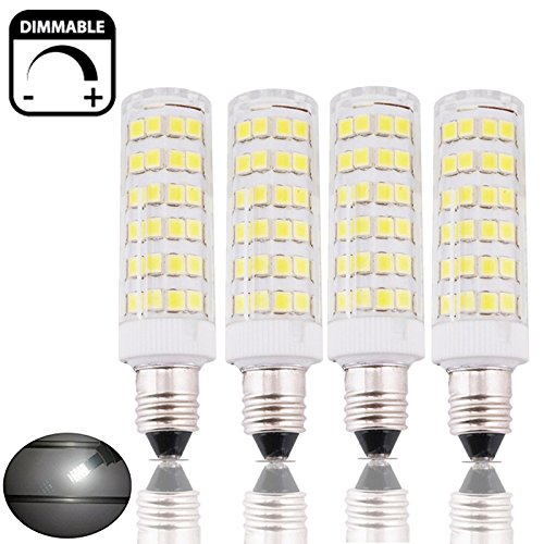 Bonlux 6W Dimmable E11 LED Light Bulb 45W Halogen Bulbs Equivalent Mini Candelabra E11 Base Daylight 6000K T3/T4 Omni-directional LED Bulb for Ceiling Fan, Indoor Decorative Lighting (Pack of 4) (Ceiling Fans With Led compare prices)