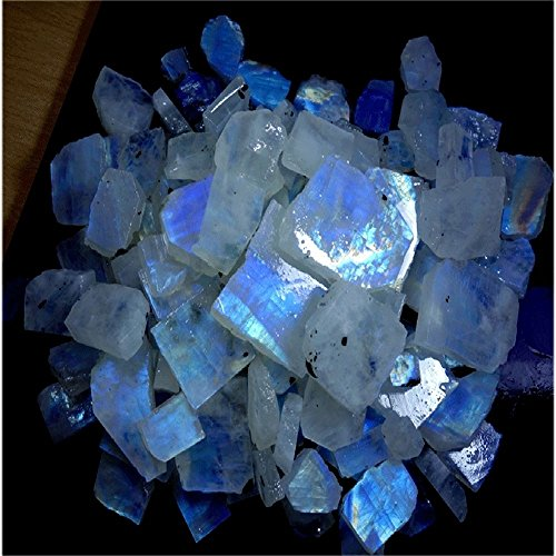 1751CTS WHOLESALE LOT NATURAL RAINBOW MOONSTONE ROUGH SPECIMEN CABOCHON GEMSTONE by Handmade