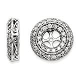 Top 10 Jewelry Gift 14k White Gold Diamond Earring Jackets