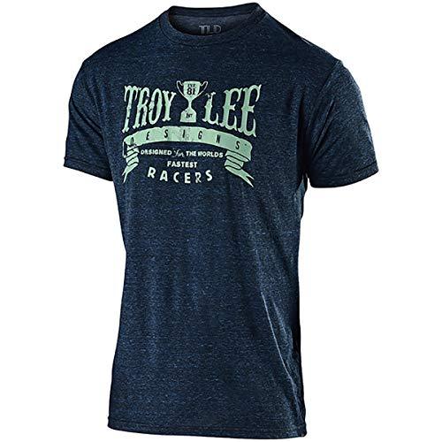 (Troy Lee Designs Men's Trophy Racers Tee (Large, Midnight Blue))