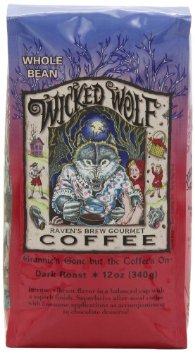 (Ravens Brew Whole Bean Wicked Wolf Blend,Dark Roast 12-Ounce Bags (Pack of 2))