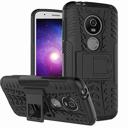 Moto E5 Play Case, Moto E5 Cruise Case, Boythink Double-Layer Hybrid Shock Resistant Armor with Kickstand Full-Body Protective Case Cover for Motorola Moto E5 Play (Black)