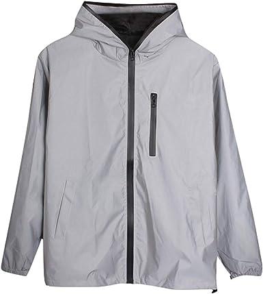 Reflective Jacket Men//women Harajuku Windbreaker Jackets Hooded Streetwear Coat