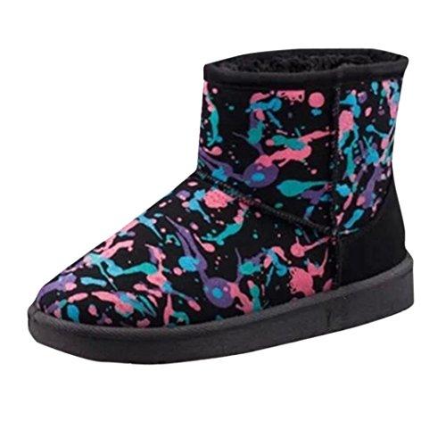 Botas Mujer,Ouneed ® De las mujeres Calentar Zapatos Nieve Botas Moda Invierno Botas Negro