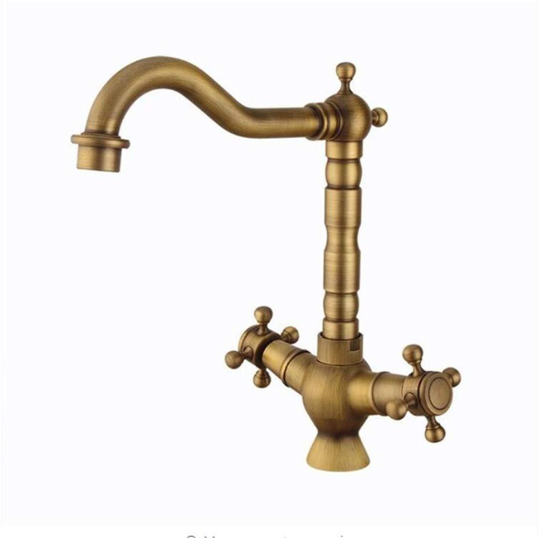 Alle Kupfer Europäischen Kalten Und Heißen Wasserhahn Retro Spiral Typ Küchenkopf Haushaltswasser Mischer Wasserhähne Becken Wasserhähne