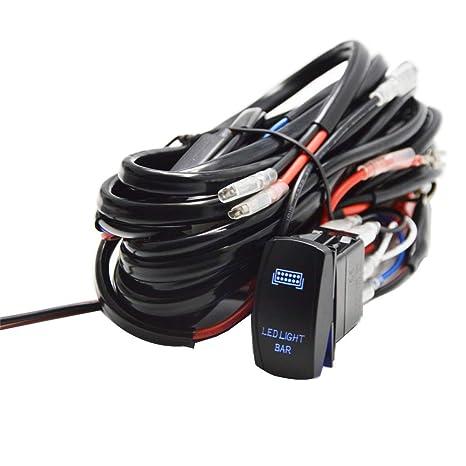 Amazon.com: Dasen LED LIGHT BAR Wiring Harness Loom Rocker ... on