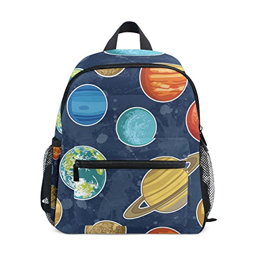 GIOVANIOR Solar System Planets Travel School Backpack for Boys Girls Kids (System School Solar Old)