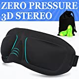 AMAZKER 3D Contoured Sleep Mask No Pressure on Eyes for A Full Night's Sleeping, Ultralight and Super Soft Eye Mask with Adjustable Strap, Works for Men and Women- Great for Traveling/Nap (TYPE-E)