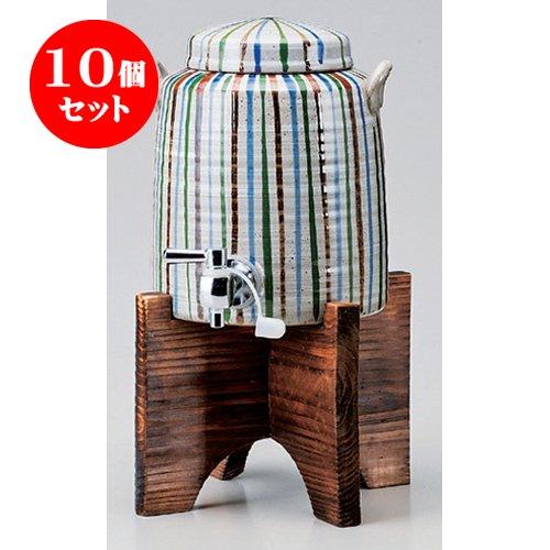 10個セット 焼酎サーバー 十草マルチサーバー(1.8リットル)(木台付) [14.5 x 17cm(1800cc)] 海外製 和食器 酒器 料亭 旅館.   B00RZAT126