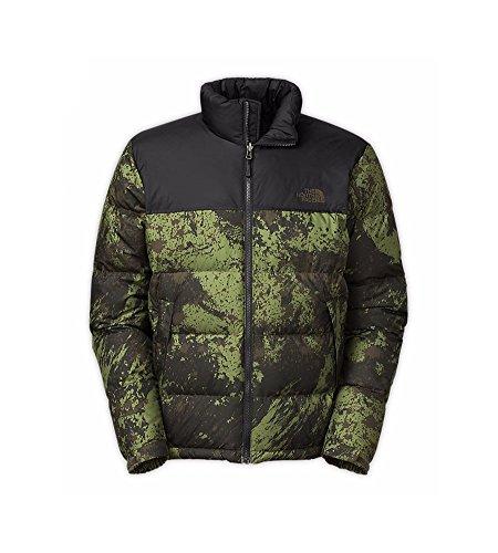 The North Face Men's Nuptse Down Jacket, Blk Ink Green Brush Stroke Print/TNF Blk (XL)