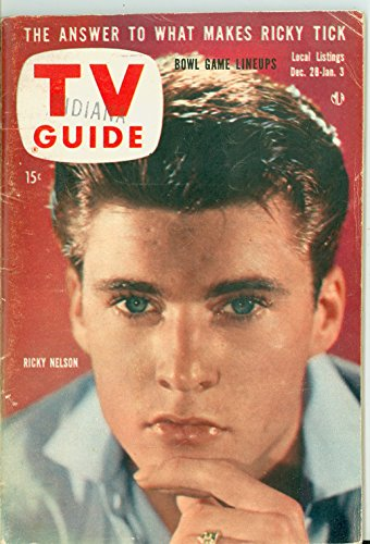 1957 TV Guide Dec 28 Ricky Nelson - Indiana Edition Very Good (3 out of 10) Well Used by Mickeys Pubs