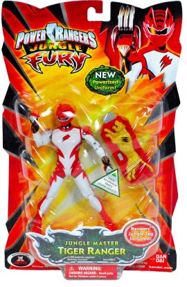 Power Rangers Jungle Fury Jungle Master Tiger Ranger Action Figure -