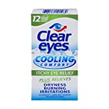 Clear Eyes Cooling Comfort - Itchy Eye Relief, #1 Selling Brand of Eye Drops - Relieves Dryness, Burning, Redness, and Irritations - Up to 12 Hours of Soothing Comfort - 0.5 Fl Oz (Pack of 2)