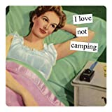 Anne Taintor Square Refrigerator Magnet - I Love Not Camping